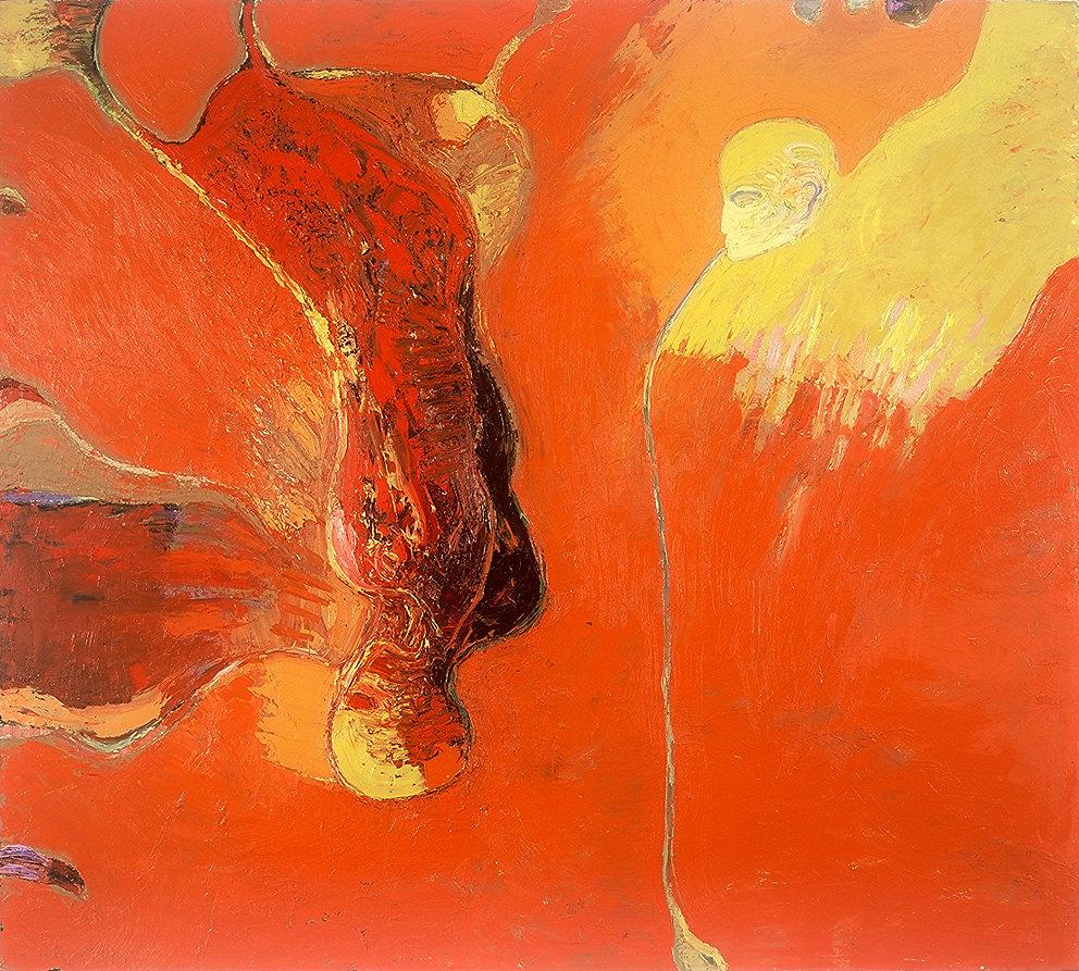 """Stürzen"", Öl/LW, 200x180, 1997"