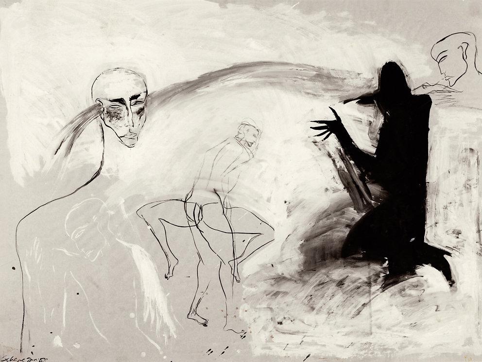 """Serie: """"Wandlungen"""", Mischtechnik, 1988"""
