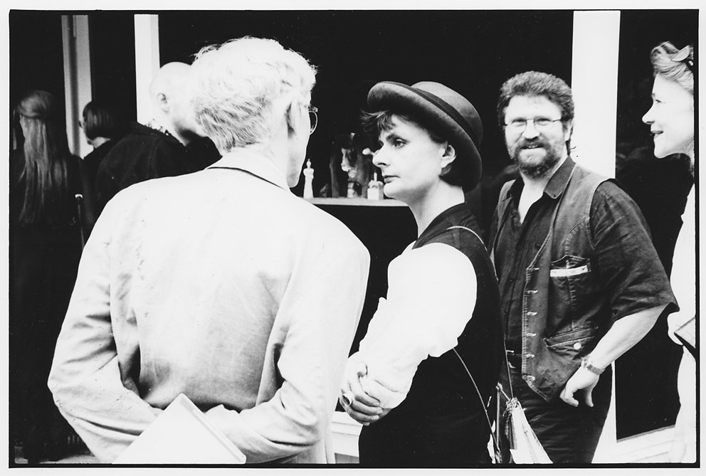 """Eröffnung Kunstsalon Volksbühne """"Neue Deutsche Räume"""" mit Hannes Schwenger, H.H. Grimmling und Kerstin Rossbander, Berlin / © I. Seidel"""