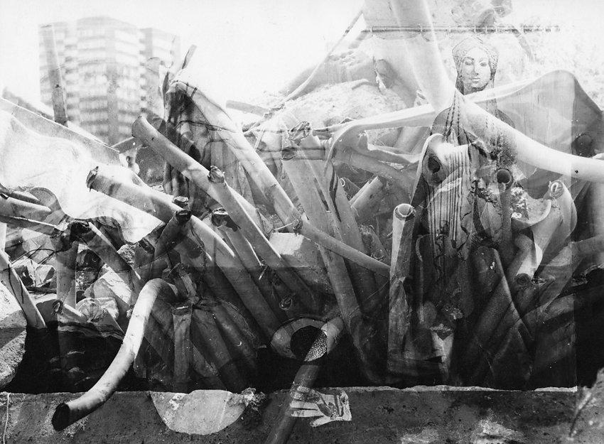 Doppelbelichtung, Marzahn, 1981