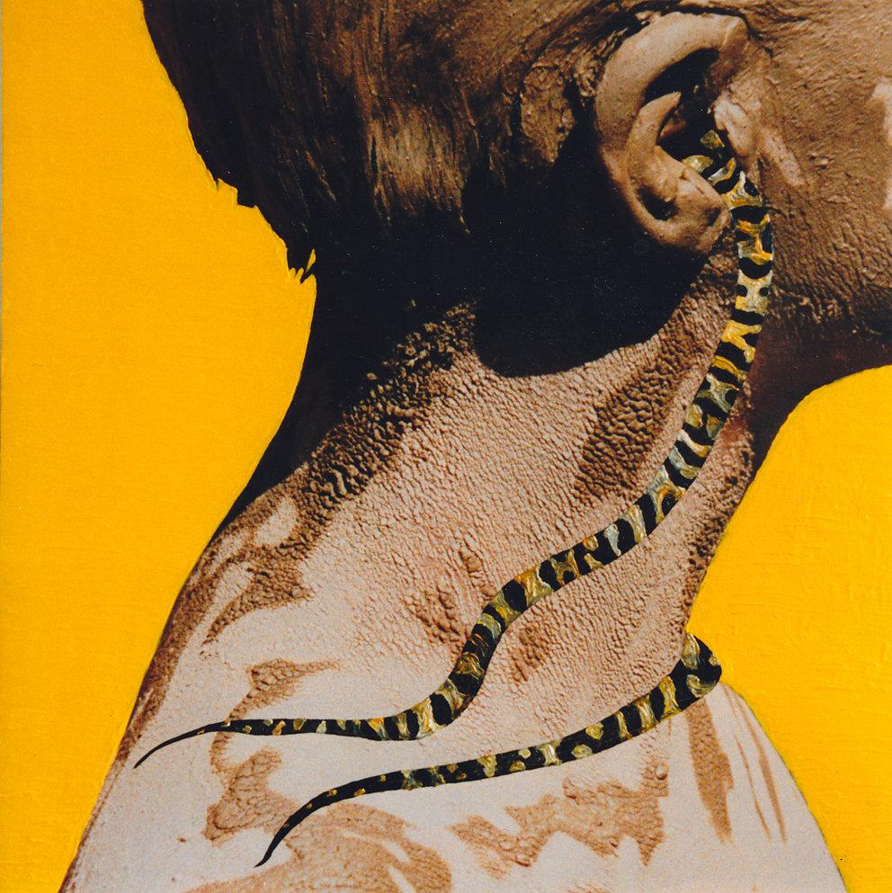 "Filmfoto ""Rodarquilar"" übermalt, 100x100, 1991"